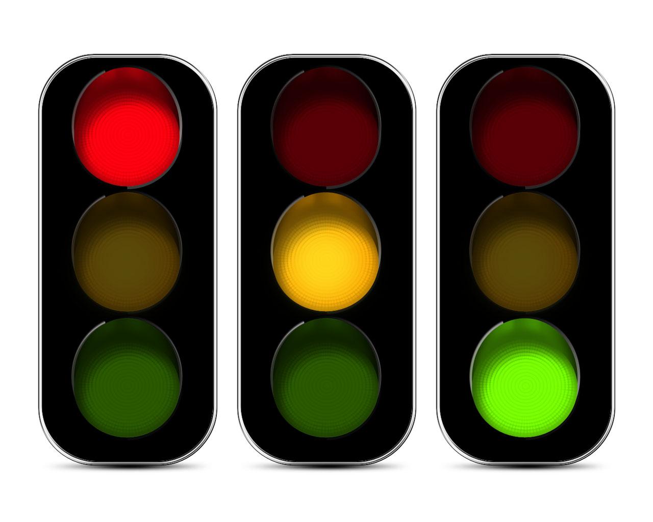 ¿Qué significan las luces de semáforo?