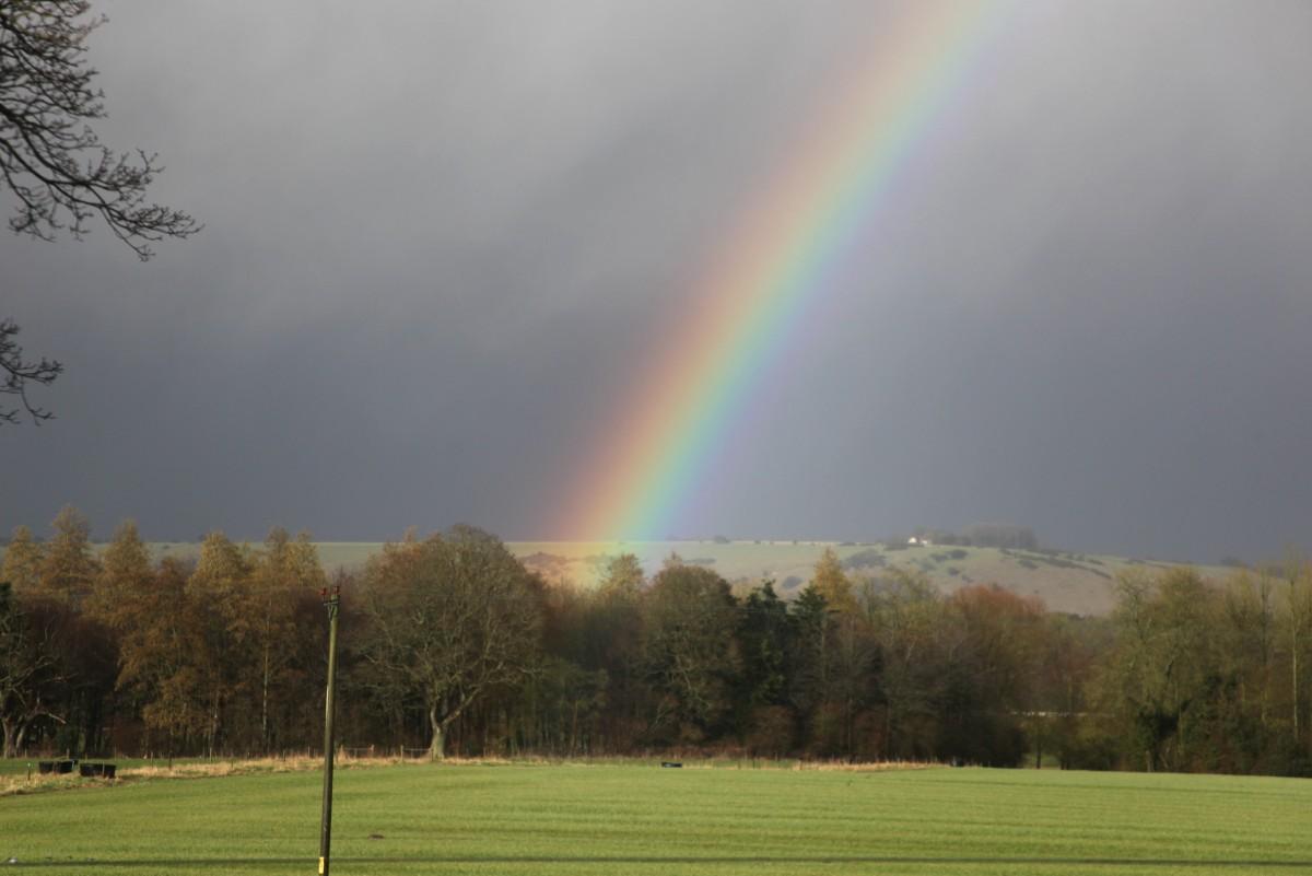 Tipos de arco iris - Arco iris reflejado