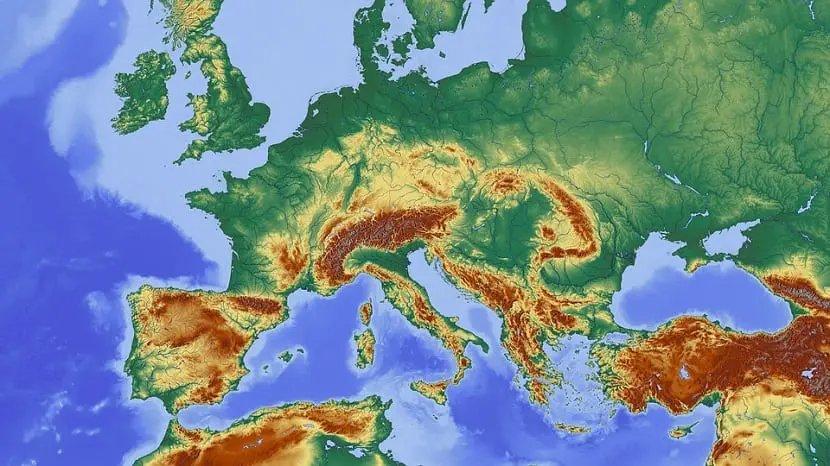 mapas físicos