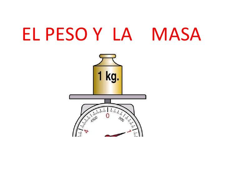 peso específico - relación masa-peso